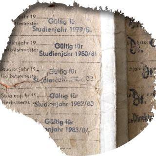 Historisches Dokument_DDR-Liste von Studierenden; Bildausschnitt