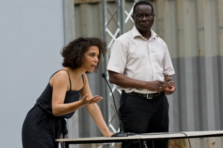 MigOst Kick Off Halle - Katharina Warda und Karama Diaby
